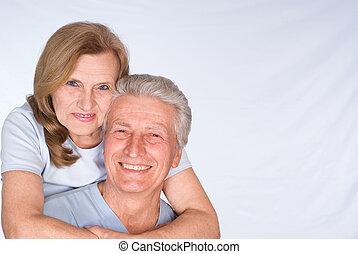 coppia, sposato, vecchio