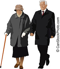 coppia, vecchio