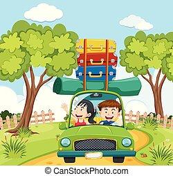 coppia, viaggiare, natura