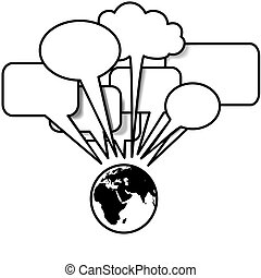 copyspace, blogs, discorsi, discorso, tweets, terra, est, bolla