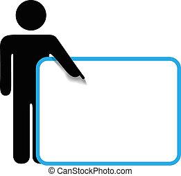 copyspace, figura, simbolo, segno, persona, punti, bastone, dito