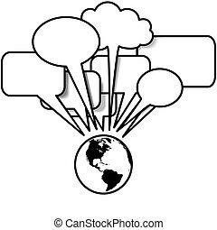 copyspace, ovest, blogs, discorsi, discorso, tweets, terra, bolla