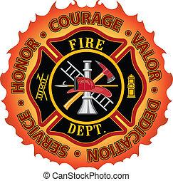 coraggio, pompiere, onore, valore