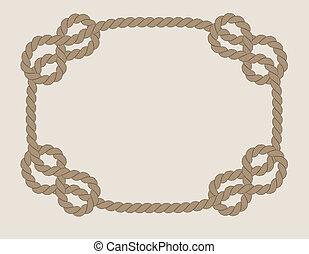 corda, cornice, fatto