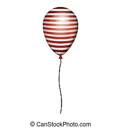 corda, globo, strisce, bianco rosso