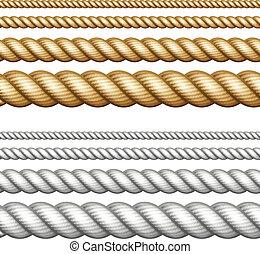 corde, set, bianco