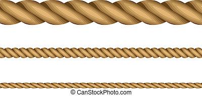 corde, vettore, illustrazione