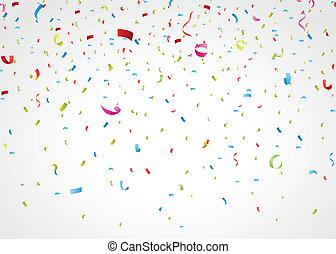 coriandoli, colorito, bianco