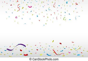 coriandoli, colorito, celebrazione