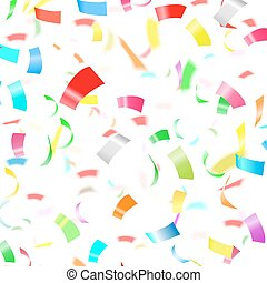 coriandoli, festa, sfondo bianco
