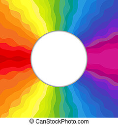 cornice, arcobaleno, circolare