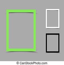 cornice, carta, a4, verticale