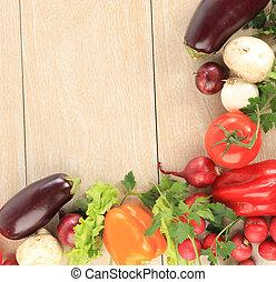 cornice, colorito, verdura