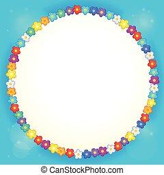 cornice, fiore, tema, 4