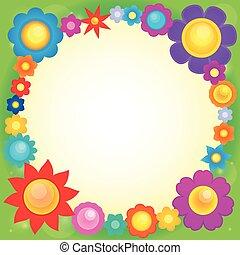 cornice, fiore, tema, 6