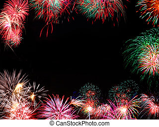 cornice, fireworks