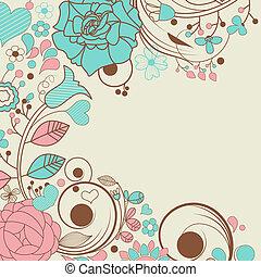 cornice, floreale