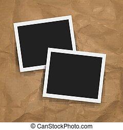cornice foto, retro, fondo