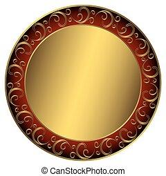 cornice, golden-red-black