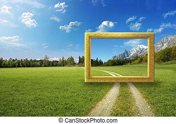 cornice, idilliaco, paesaggio