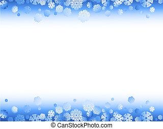 cornice, inverno, fiocchi neve