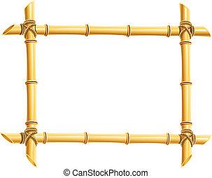 cornice legno, bambù, appiccicare
