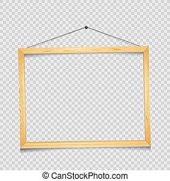 cornice legno, trasparente, rettangolare