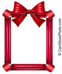 cornice, nastro rosso, arco