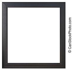 cornice, nero, isolato, immagine