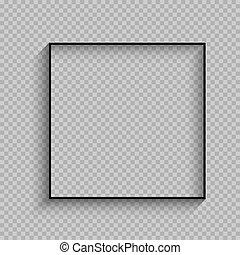 cornice, quadrato, nero, magro, uggia
