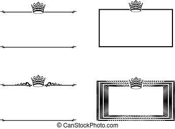 cornice, set, corona