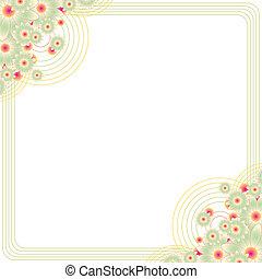 cornice spaziale, copia, floreale