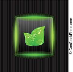 cornice, trasparente, sfondo verde, strisce, foglie
