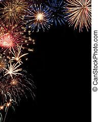 cornice, vacanza, fireworks