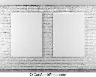 cornici, brickwall, vuoto