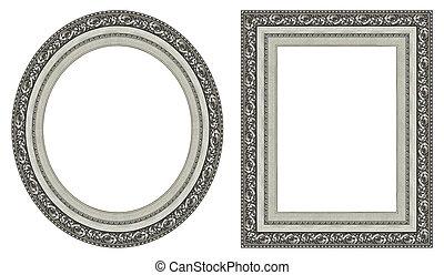 cornici, immagine, argento