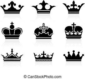 corona, disegno, collezione