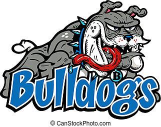 corpo, bulldog, matto, pieno