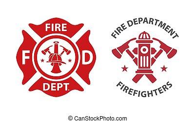 corpo dei vigili del fuoco, logotipo