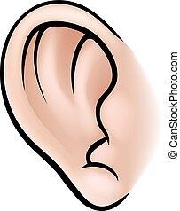 corpo, orecchio, parte