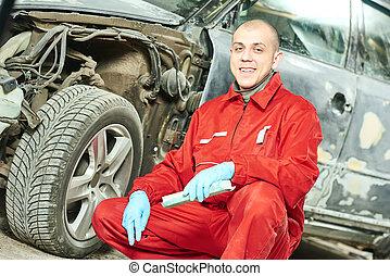 corpo, riparazione, automobile, lavoro, meccanico, auto