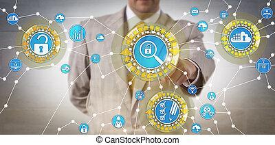 corporativo, identificare, revisore, vulnerabilità