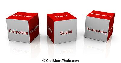 corporativo, responsabilità, sociale