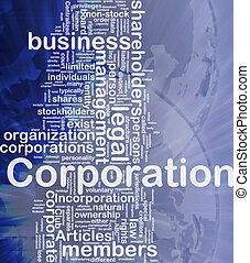 corporazione, concetto, fondo