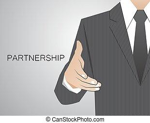 corporazione, stretta di mano, gratulatorio, decisione, comunicazione