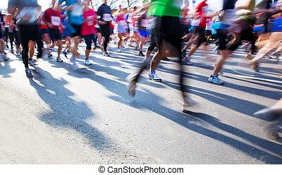 correndo, maratona, digiuno