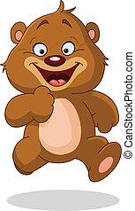 correndo, orso, teddy