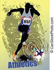 correndo, peop, athletics., manifesto