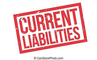 corrente, gomma, liabilities, francobollo