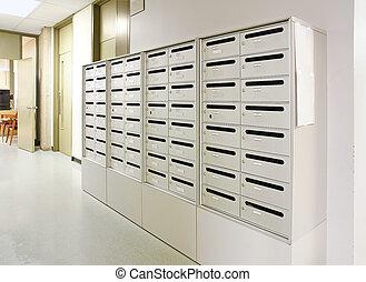 corridoio, cassetta postale
